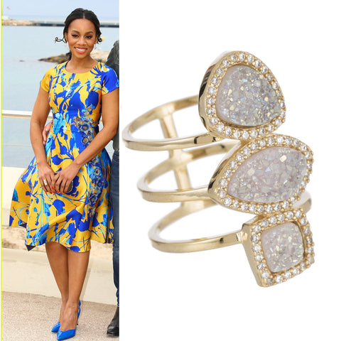 Anika Noni Rose wearing Marcia Moran Monet Ring in Cannes