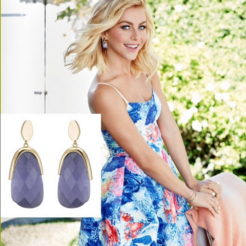 Julianne Hough wearing Marcia Moran Sasha Earrings in Redbook