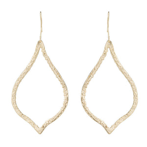 ALGIERS TEXTURED OPEN FILLIGREE SHAPE EARRINGS