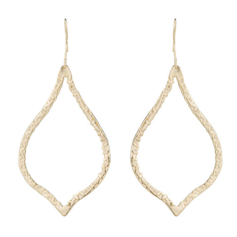 Algiers Textured Open Filligree Shape Earring