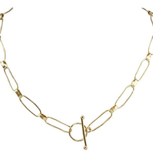 Ena Large Link T Bar Necklace