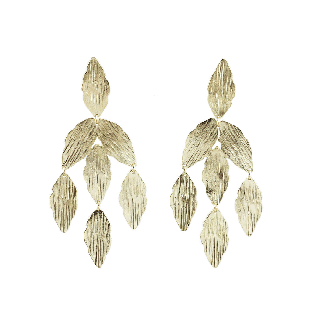 Ale Marquise Textured Earrings