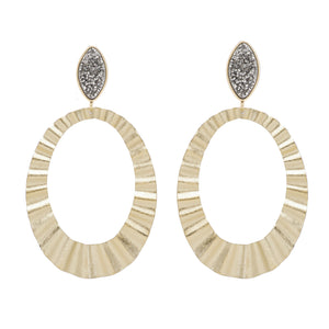 Marcia Moran Post hoops with titanium druzy Earrings GBR268