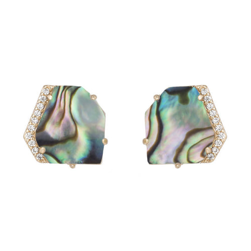Christy Stone Chunk Stud Earrings