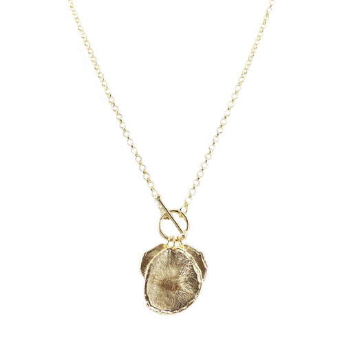 Suz Textured Coin Necklace