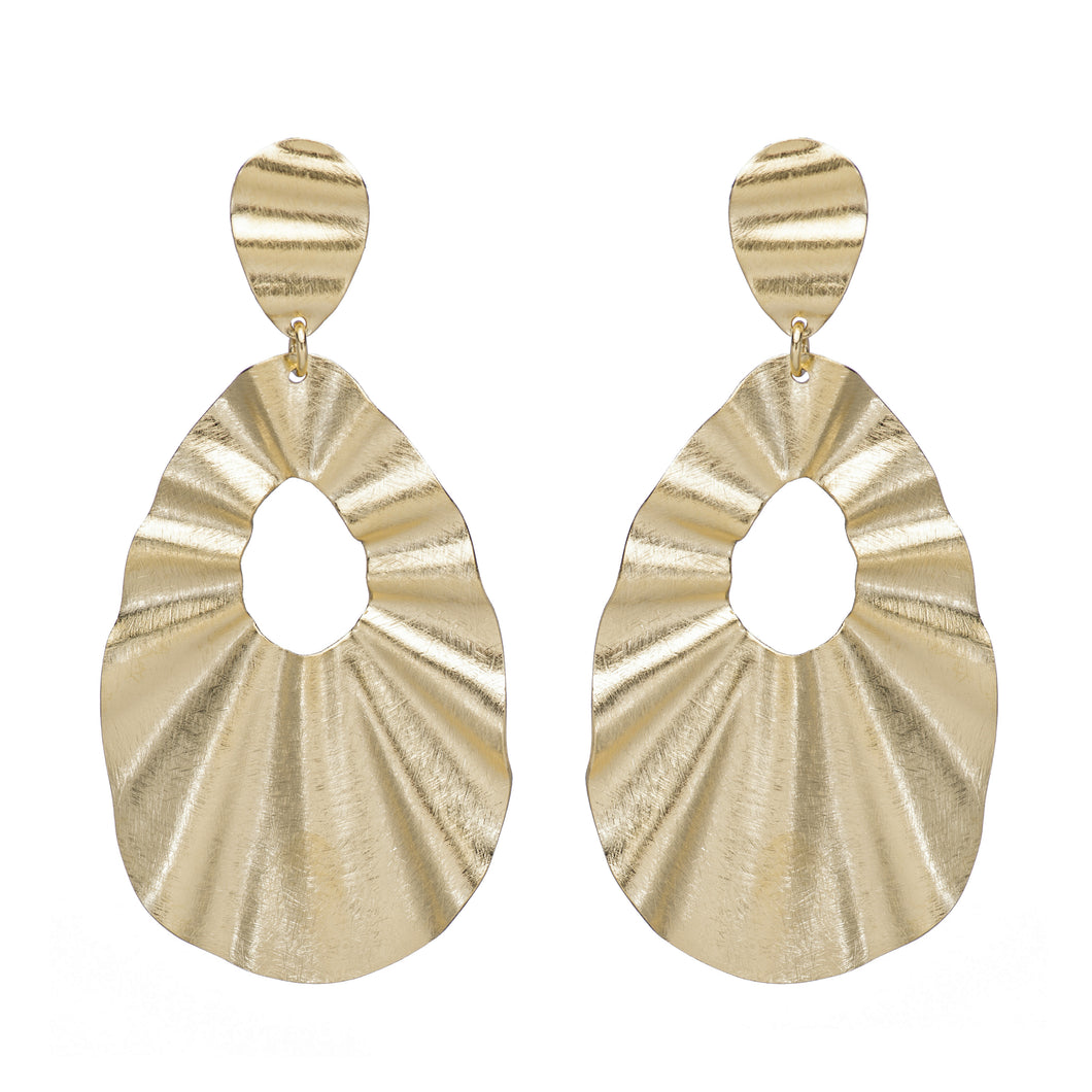 Flavia Wavy Drop Earrings