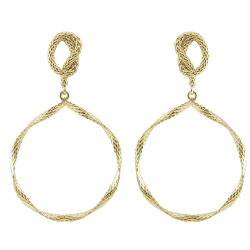 Linde Texture Hoop Earrings