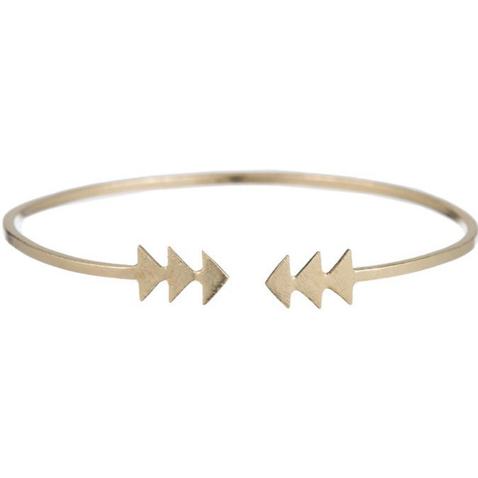 Gwen Double Arrow Bangle