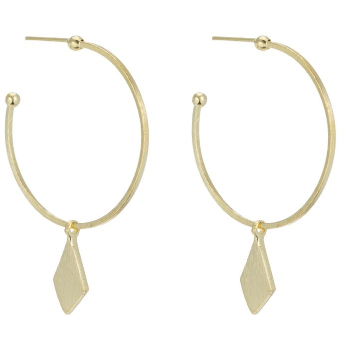 Troy Hoop Earrings with a Drop