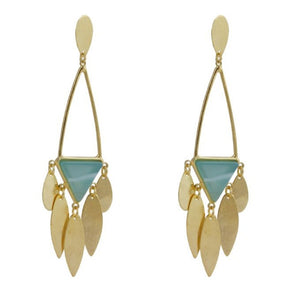 Odelia Geometric Drop Earrings