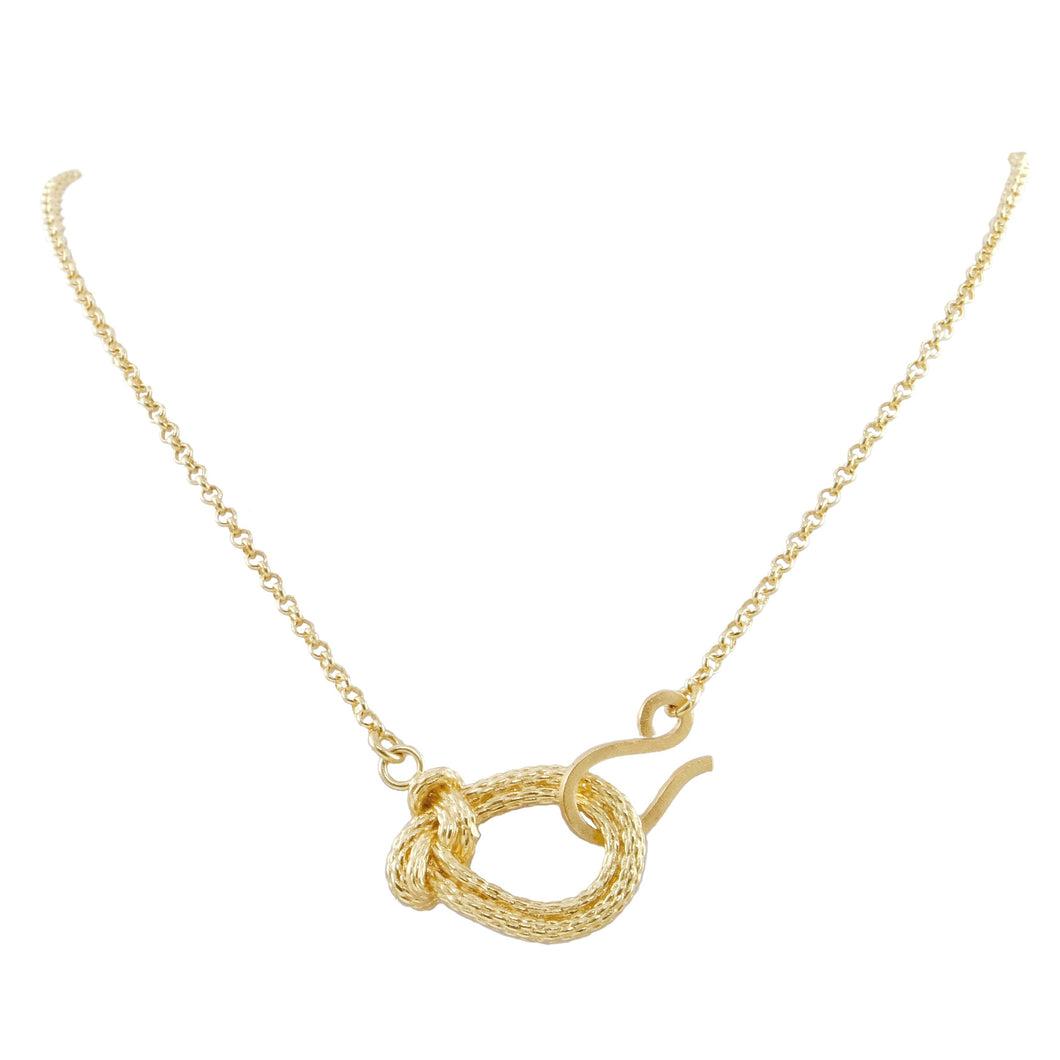 Veronika Knot Front Clasp Necklace
