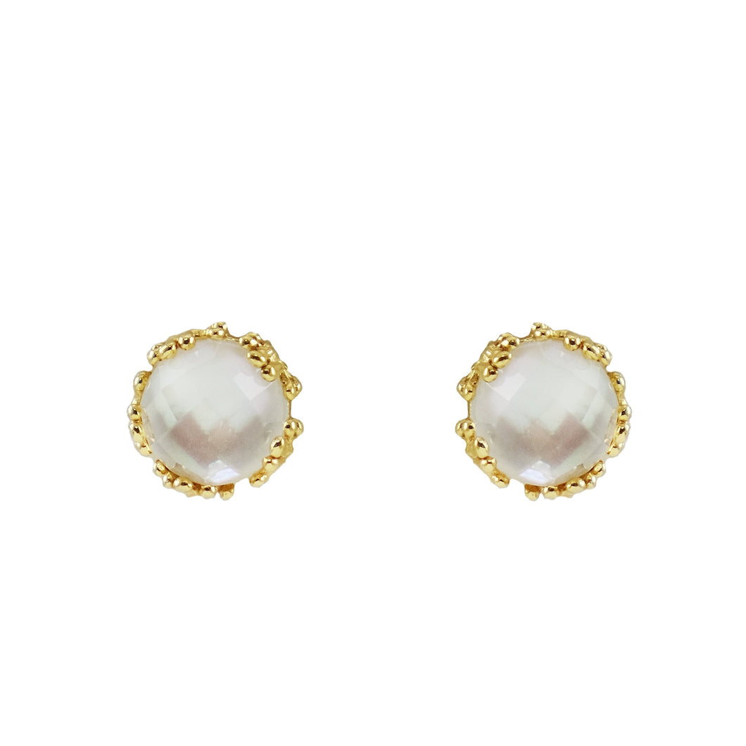 Bethanie Stud Coral Earrings