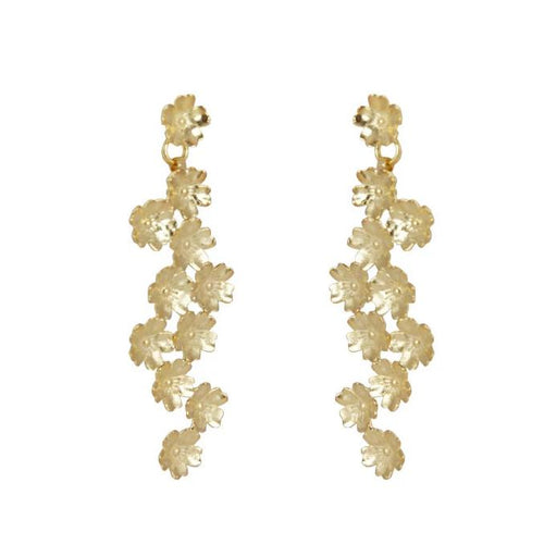 marcia moran 18k gold plated flower earrings