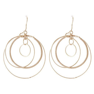 Catena Orbit Textured Hoop