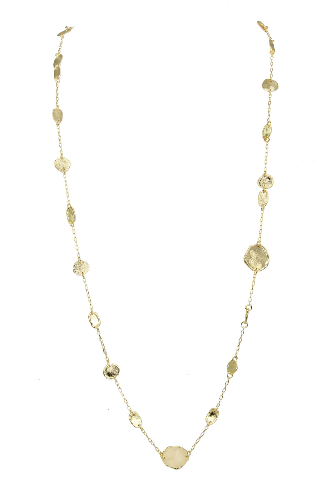 Dorine Long Molten Motif Necklace