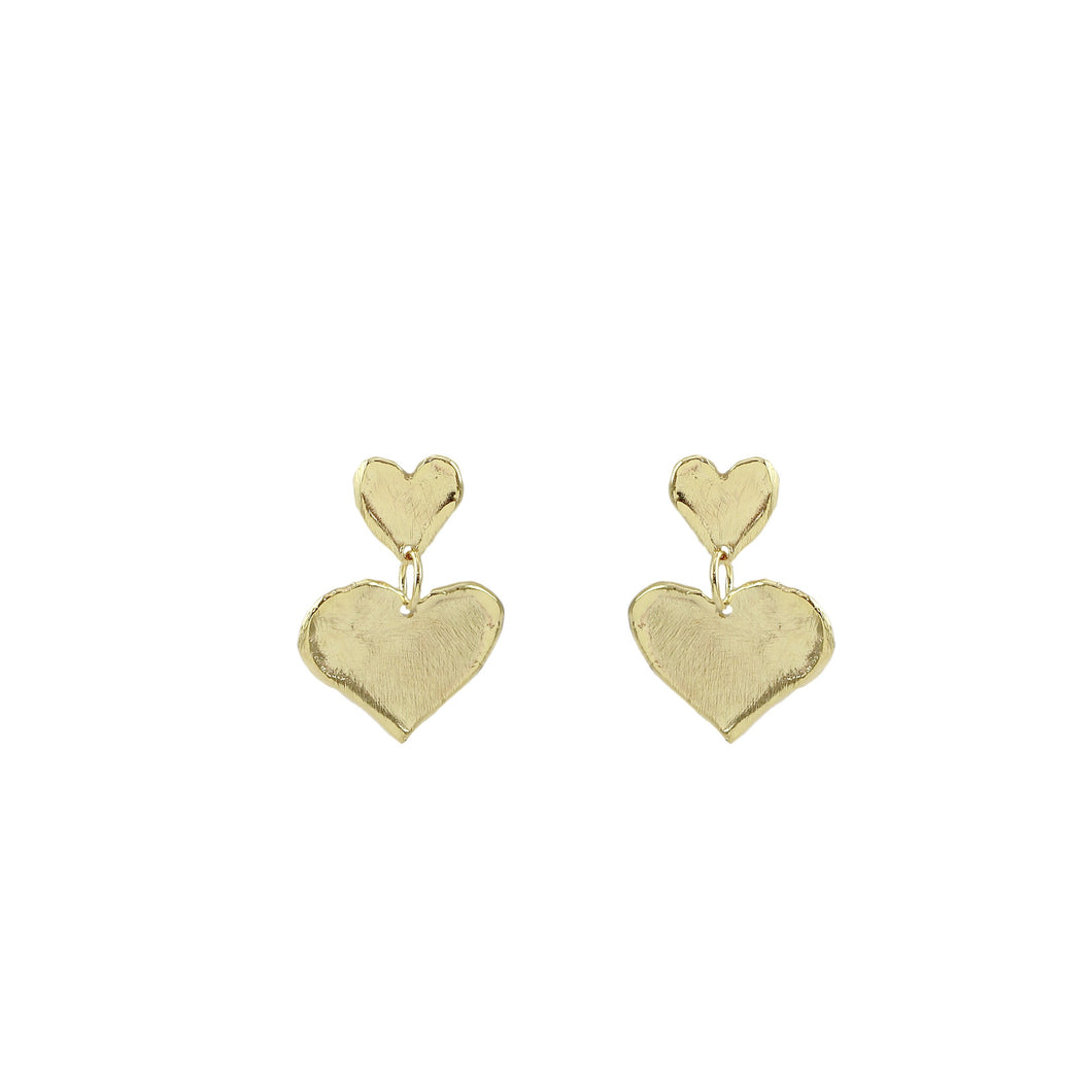 Aneliya Petite Heart Earrings