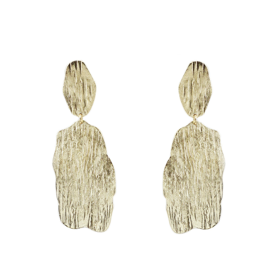 Sumati Oval Textured Earrings