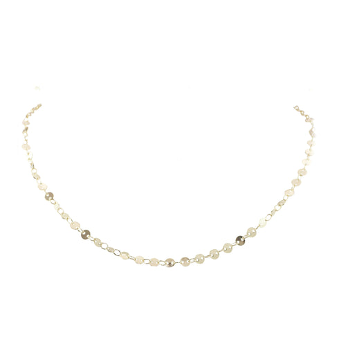 Louisa Disk Short Necklace