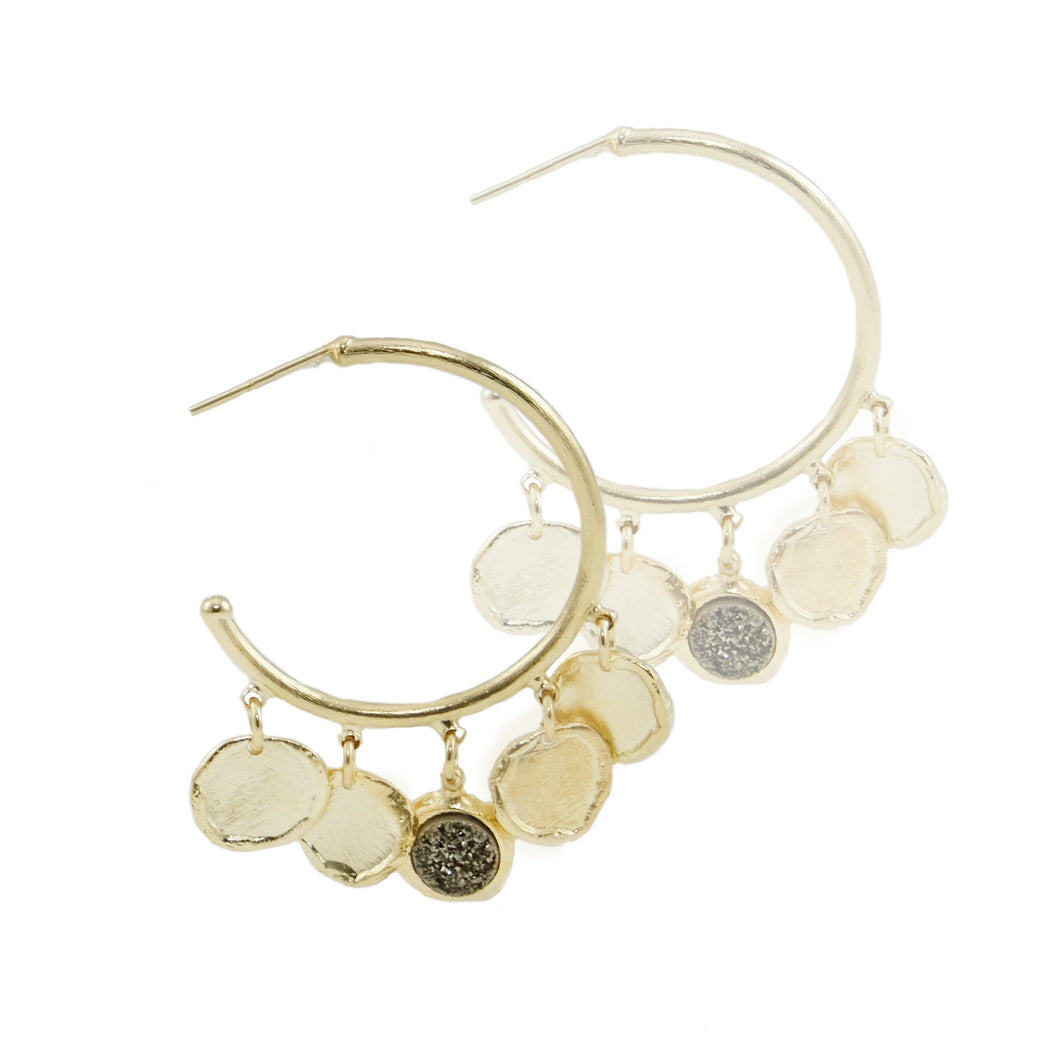Sarala Coin Hoops