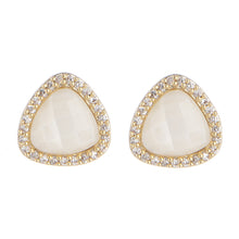 BB194e Marcia Moran Trois Triangle Stud in Mother of Pearl