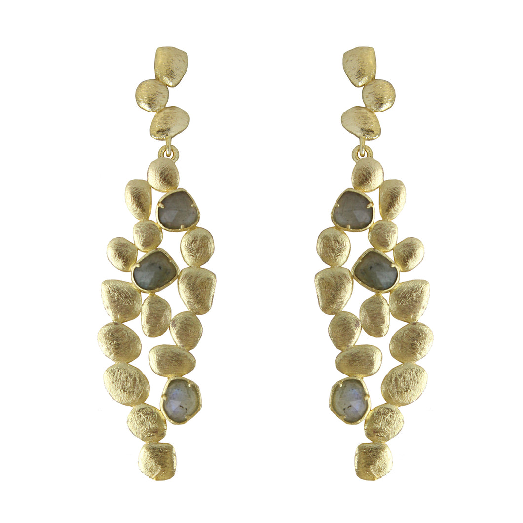 Sharon Multiform Pebbled Earrings