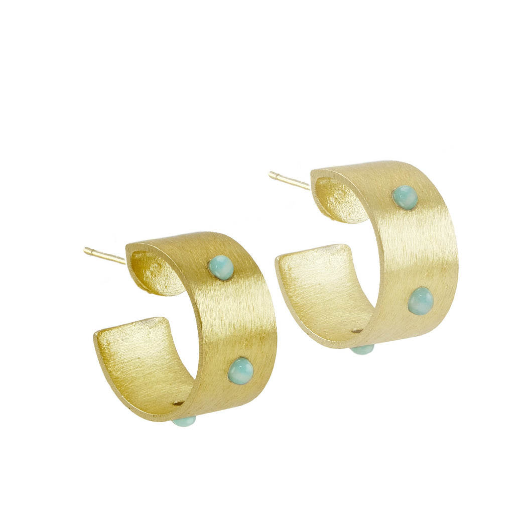 Rowina Embellished Medium Hoops