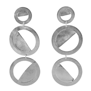 Cici Round Drop Earrings
