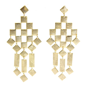 Sammy Geometric Chandelier Earrings