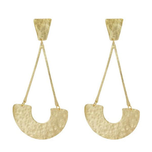 Marcia Moran Hammered post earrings gold br473