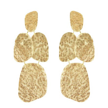 Marcia Moran statement hammered earrings with organic shapes br478 gold