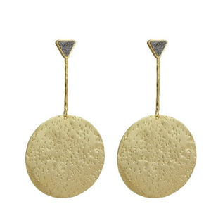 Sakari Large Coin Drop Earrings