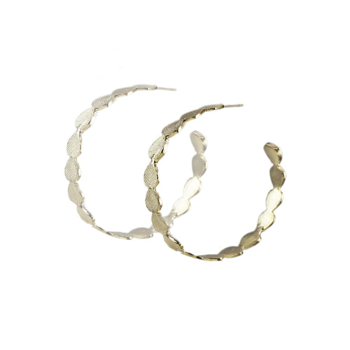 Ela Textured Hoop Earrings