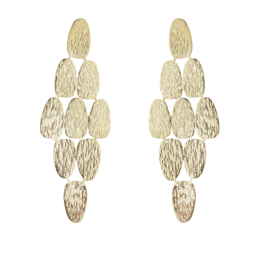 Raelynn Textured Chandelier Earrings