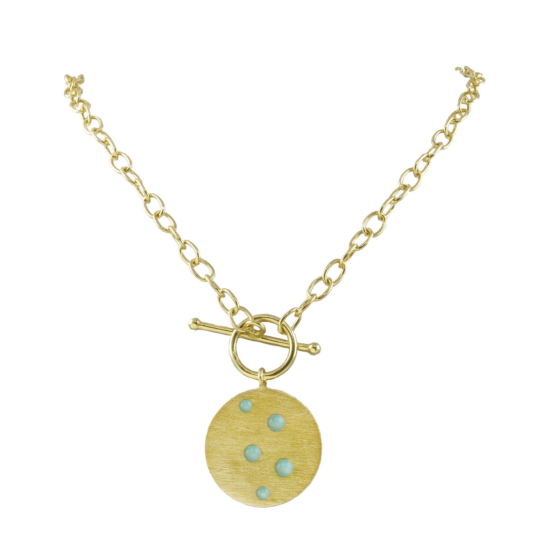 Sidsel Embellished Coin Necklace with a T Bar