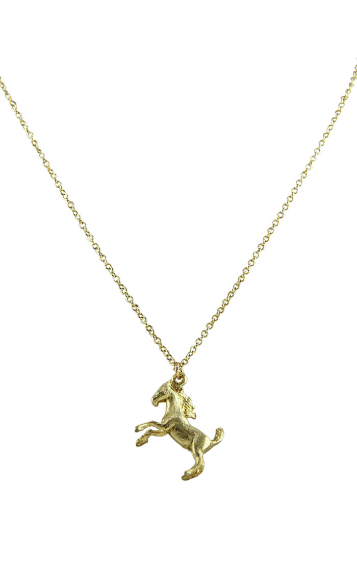 Amaltheia Horse Pendant Necklace