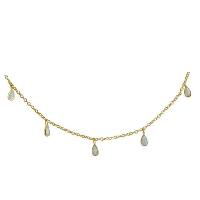 Hawaii Opal Drop Long Necklace