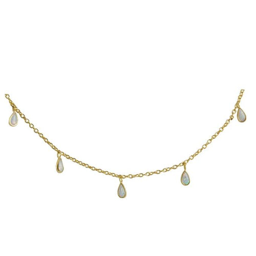Marcia Moran Honolulu short necklace with opal droplets
