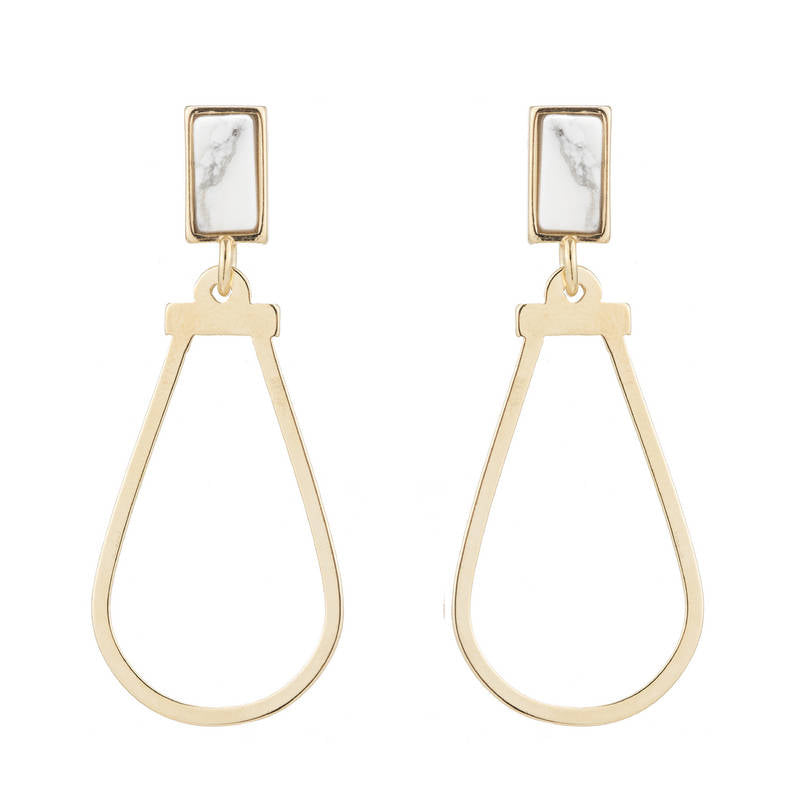 Linda Square Post Earrings