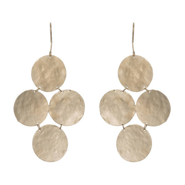 BARBARA HAMMERED COIN CHANDELIER EARRINGS