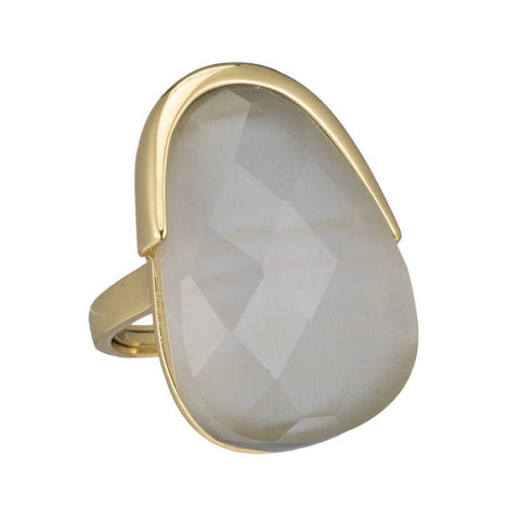 Berlin Faceted Oval Gemstone Ring