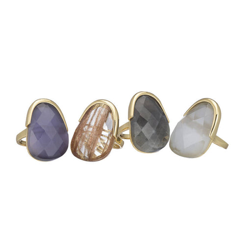 BERLIN FACETED OVAL GEMSTONE