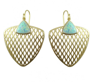Pimm Filigree Earrings with Stone