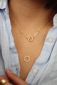 Phile Multisize Link T Bar Necklace