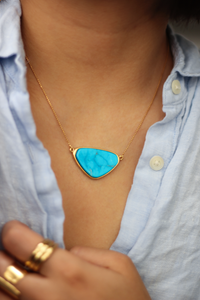 Shane Tringle Shape Stone Necklace