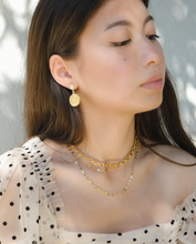 Neela Embossed Circle Earrings