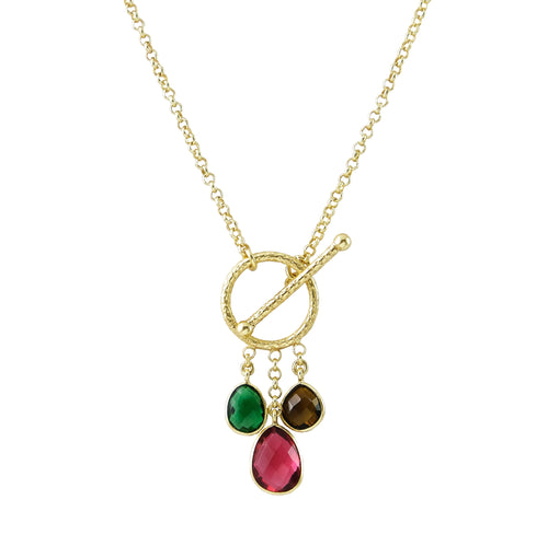 Garnet Multi-Stone Pendant Necklace