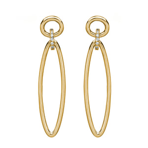 Tatu Minimalist Sterling Silver Drop Earrings