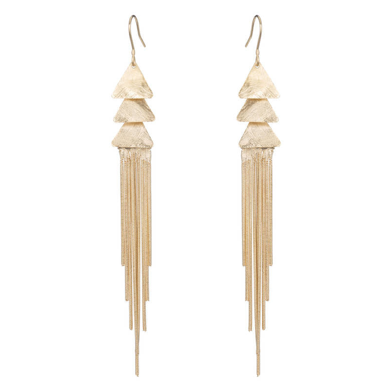 Gertrude Fringe Chain Earrings