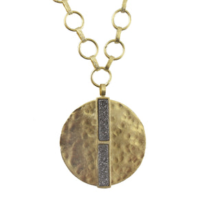 Loomis Hammered Pendant Necklace