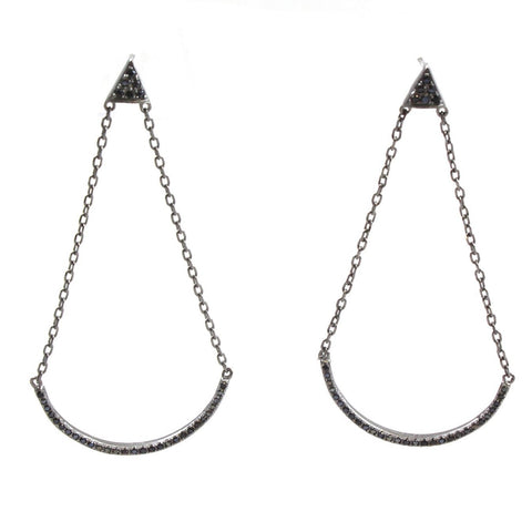 Marcia Moran Neal AE50 Sterling Silver Drop Earrings